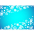 Christmas beautiful blue background vector image vector image