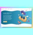 cloud services landing page website vector image vector image