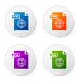 color html file document download html button vector image vector image