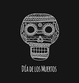 day of the dead mexican sugar skull for your vector image vector image