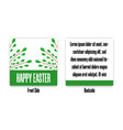 easter greeting postcard with green branches vector image vector image