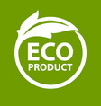 eco product logo vector image