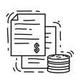 ecommerce payment hand drawn icon set outline vector image vector image
