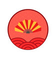 fan chinese new year logo isolated circle icon vector image vector image