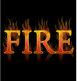 fire grill text icon vector image