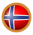 flag of norway in round icon vector image vector image