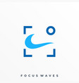 focus waves template vector image