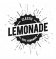 fresh lemonade vintage stamp sign vector image vector image
