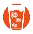 fresh orange juice drink icon vector image vector image