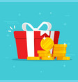 gift box with money win present or cash happy vector image