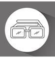 glasses icon design vector image