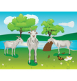 Goat and Green Lawn2 vector image vector image