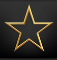 golden star with isolated black background vector image