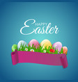 happy easter natural background with eggs grass vector image vector image