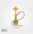 hookah silhouette icon isolated flat vector image