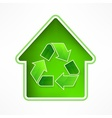 House with recycling symbol vector image vector image