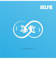 Infinite selfie logo elements design vector image