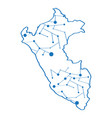 isolated map of peru vector image vector image
