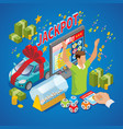 isometric lottery composition vector image