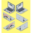 Isometric set of computer laptop 3d vector image vector image