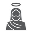 jesus glyph icon christianity and god christ vector image vector image