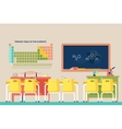 Lesson of chemistry at school classroom vector image vector image