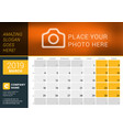 march 2019 desk calendar for 2019 year design vector image vector image