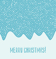 Merry Christmas blue card vector image vector image