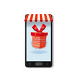 mobile online store concept smartphone holiday vector image vector image