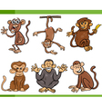 monkeys cartoon set vector image vector image