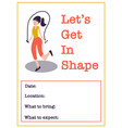 motivational gym class poster template women vector image