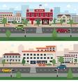 Municipal buildings banner set vector image vector image