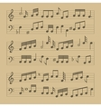 music note sheet pattern vector image