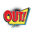 out comic word vector image vector image