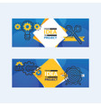 outline strategy icons banners vetor vector image vector image