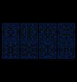 pac man game maze set vector image