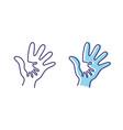 people hand help vector image vector image