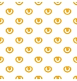 Pretzels pattern cartoon style vector image vector image