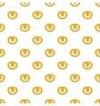 Pretzels pattern cartoon style vector image vector image