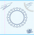 quality emblem line sketch icon isolated on white vector image