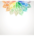 rainbow watercolor painted flower on white vector image vector image