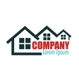 real estate company design vector image vector image