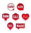 sale label sticker set vector image vector image