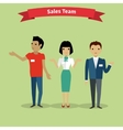 Sales Team People Group Flat Style vector image vector image