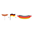 Sausage and German flag Made in Germany vector image vector image