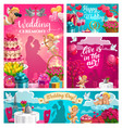 save date wedding ceremony love in air vector image vector image