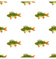 seamless pattern freshwater flat colorful perch vector image vector image