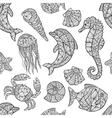 seamless pattern on marine theme vector image