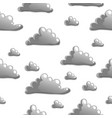 seamless pattern with cartoon grey clouds on vector image vector image