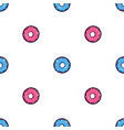 seamless texture with cute kawai pink and blue vector image vector image